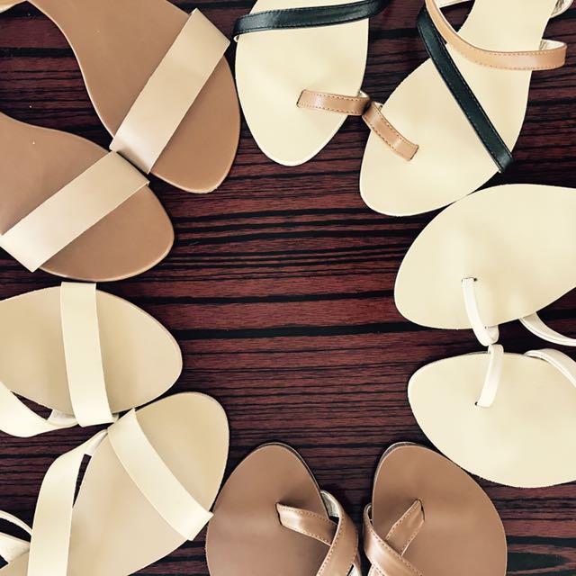 strappy footwear