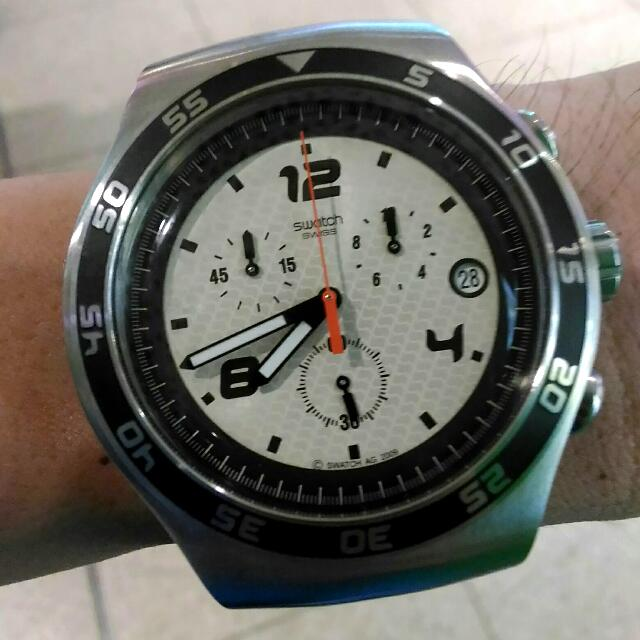 CTN: SWATCH IRONY CHRONO Watch (Model No. YOS438, with Date Feature)