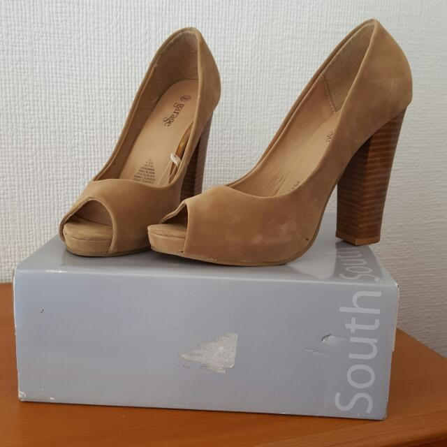 Tan Coloured Suede Style Shoes