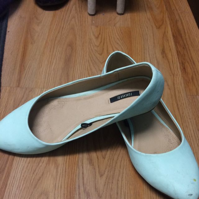 Teal Flats Forever 21