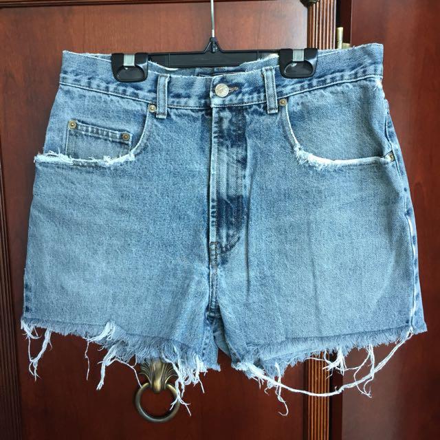 Thrifted High Waisted Denim Shorts