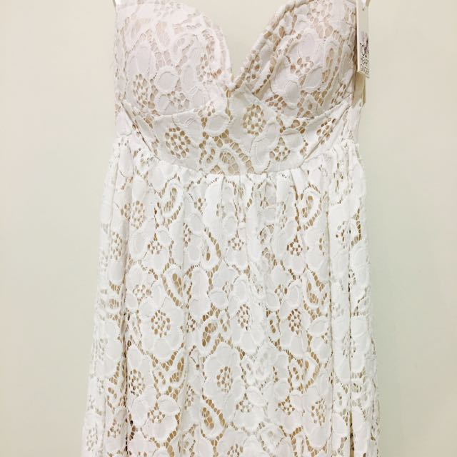 Toby Heart Ginger White Lace Dress Size 8 NWT