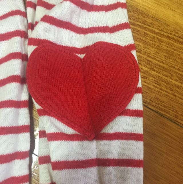 Top With Hearts On Elbow Size 10