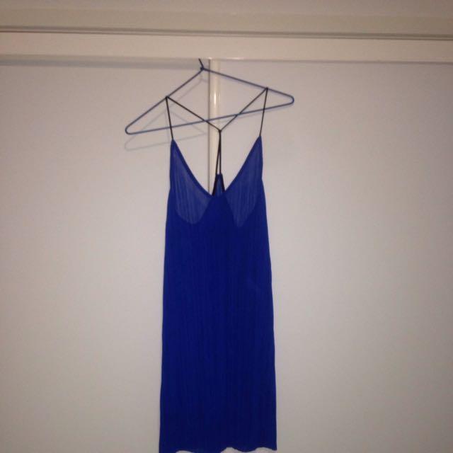 Topshop Pleated Slip Dress - UK Size 8