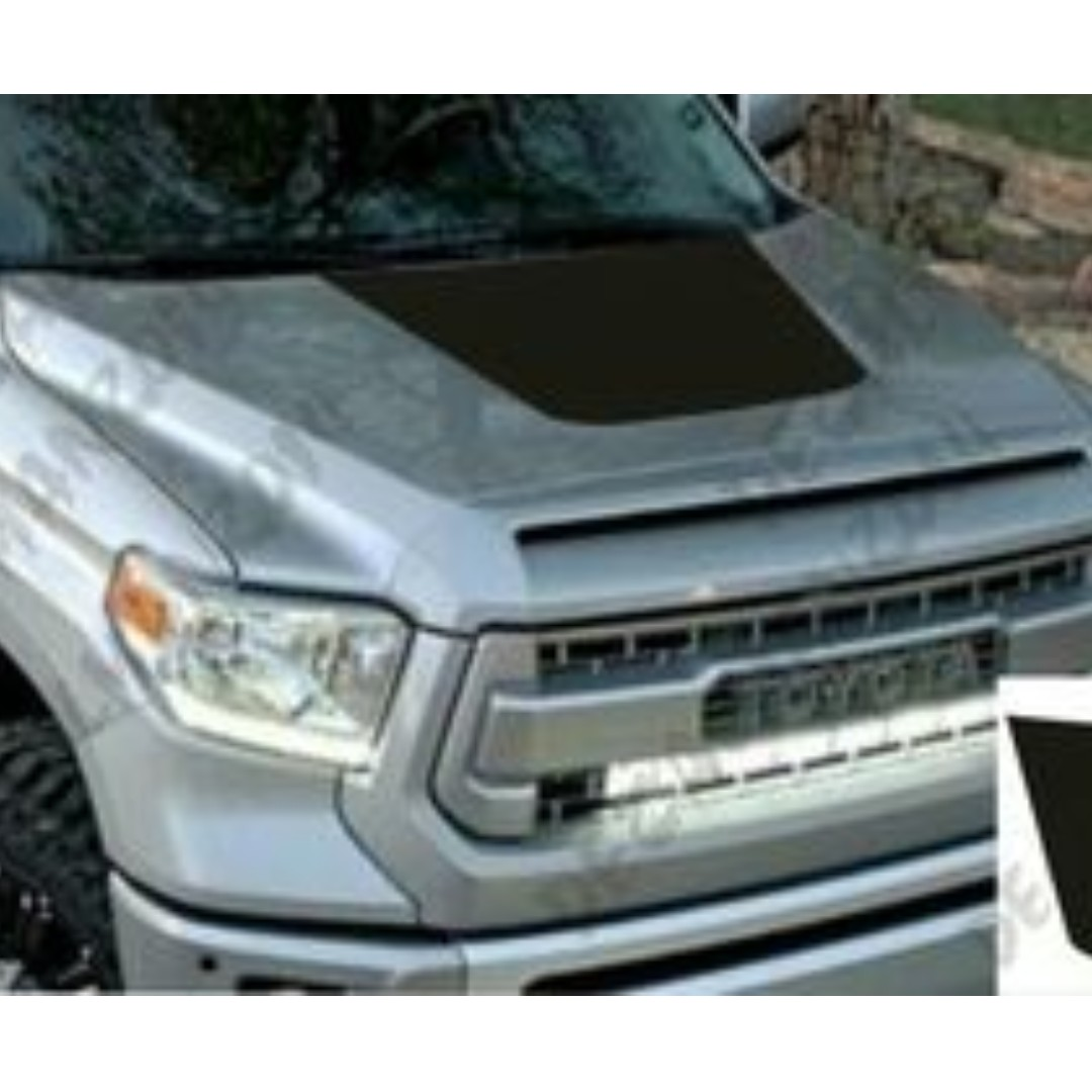 TOYOTA TUNDRA TRUCK SOLID BLACKOUT VINYL HOOD DECAL 2014-2016 MODELS