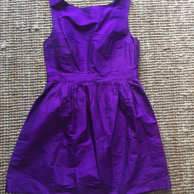 Ultra Suite Cadbury Purple Raw Silk Dress