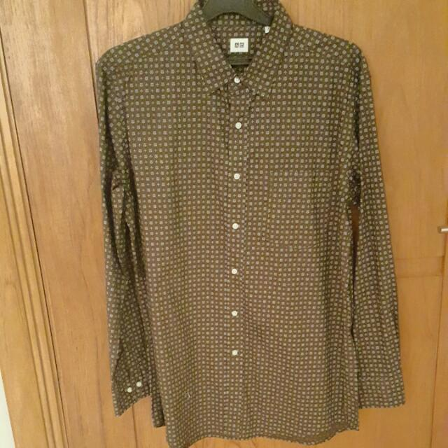 UNIQLO Long Sleeve Shirt Brown