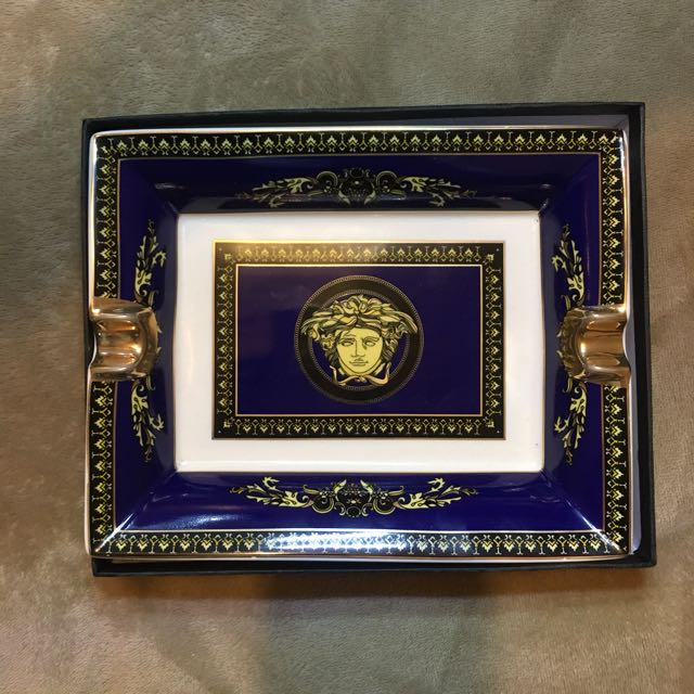 VERSACE HOME Ceramic Gold Dipped Plate Médusa Head RRP 450$
