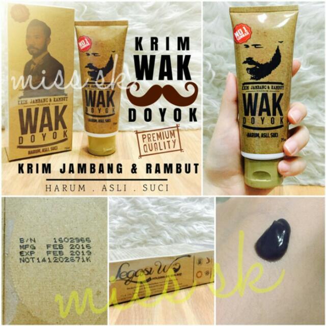 Wak Doyok - Krim Penumbuh Jambang, Alis, Rambut & Kumis, Olshop Fashion, Olshop Produk Kecantikan on Carousell