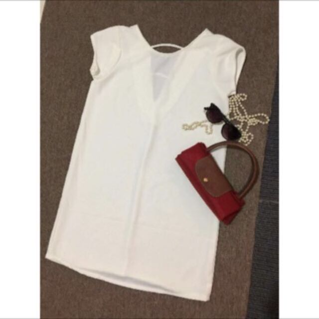 white dress (accessories not included)