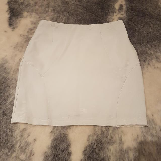 White Forcast Mini Skirt - Size 8