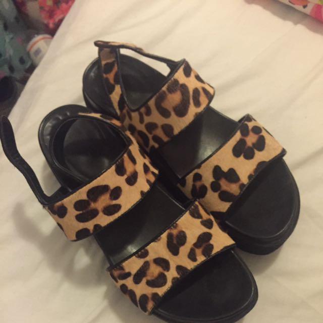 Windsor smith Shoes Platform Leopard Print Sandals