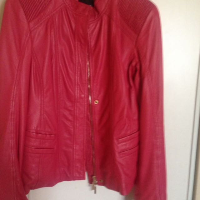 Women's Leather Jacket by Marciano