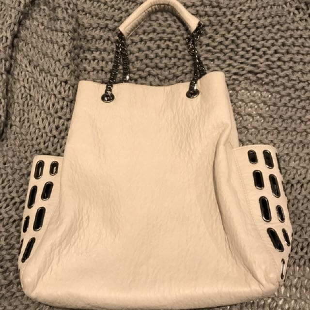 Zara Cream Tote Bag
