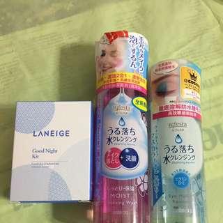 Laneige Water Bank Set & Bifesta Cleanser / Makeup Remover