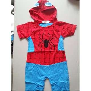 Spiderman Jumpsuit with Hoodie