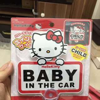 Hello Kitty Baby In Car