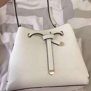 Forever New White Small Bucket Bag - New