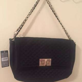 Brand New - Forever New Quilted Black Bag