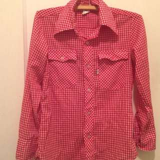 Red Levi's Button Down