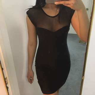 American Apparel Mesh Lowback Bodycon Dress