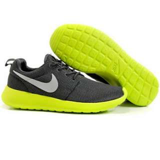bf5d1e6599f60 Nike  Roshe Run Series - Black With Lime Green Outsole (Men s)