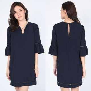 Love Bonito | Reenys Dress M, Navy