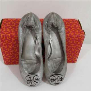 Preloved Tory Burch Reva Ballet Flat Shoes