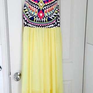 Yellow Midi Dress