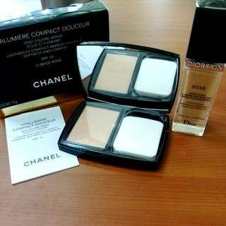 Chanel 活力光采雪紡水潤粉餅  贈Dior 粉底液