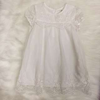 H&M Off White Lace Dainty Baby Dress