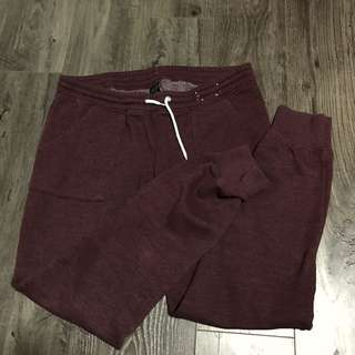 Burgundy Jogger Sweat Pants