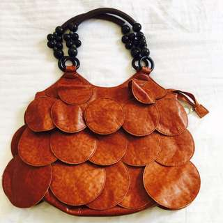 Retro Vintage Brown Leather Bag