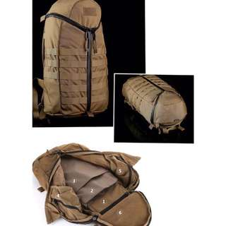 BNIP EDC Gear TRIZIP Tactical Assault Bag ( Coyote Brown )