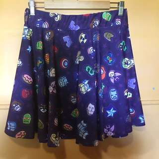 Marvel Characters Skirt