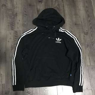 Adidas Black Striped Hoodie