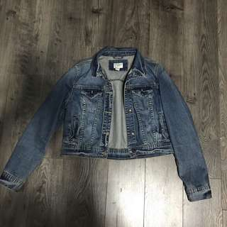 Denim Crop Light Wash Jacket