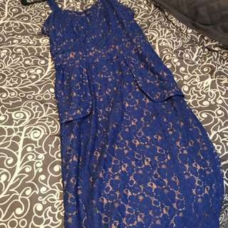 Dark Blue Strappy Dress From Express