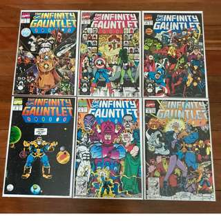 MARVEL COMICS INFINITY GAUNTLET ULTIMATE COLLECTION #1-6 SILVER SURFER 34, 44, 50-59 FIRST APPEARANCE PLUS BONUS ALL NM/NM-
