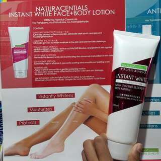 Naturacentials Instant White Face+Body Lotion