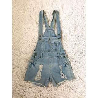 Vintage Denim Overalls, Size 8