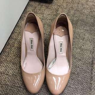 Miu miu 淺粉色高踭鞋