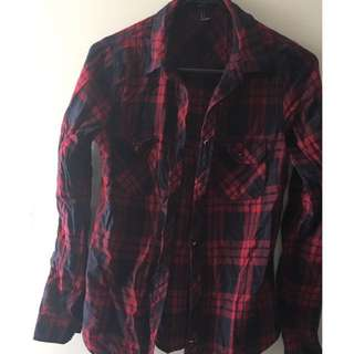 FOREVER 21 RED FLANNO