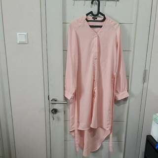 Brida Shirt Dress In Dusty Pink Berrybenka