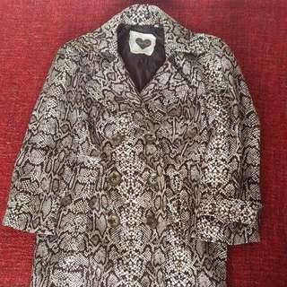 Animal / Snakeskin print Long jacket/ Coat