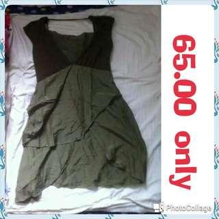 pre loved moss green dress