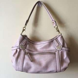 light pink shoulder bag