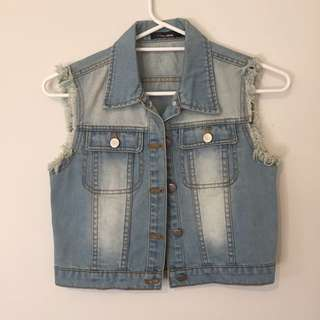 Denim Jacket Vest Top