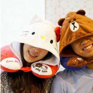 Hello Kitty X Line Friends 聯名限量頸枕