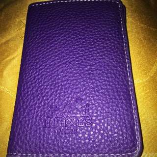 Auth Hermes Leather Walet